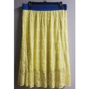 LuLaRoe Lola Lace Midi Skirt